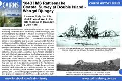 Cairns-History-Series-1848-HMS-Rattlesnake-Coastal-Survey-at-Double-Island-Wangal-Djungay