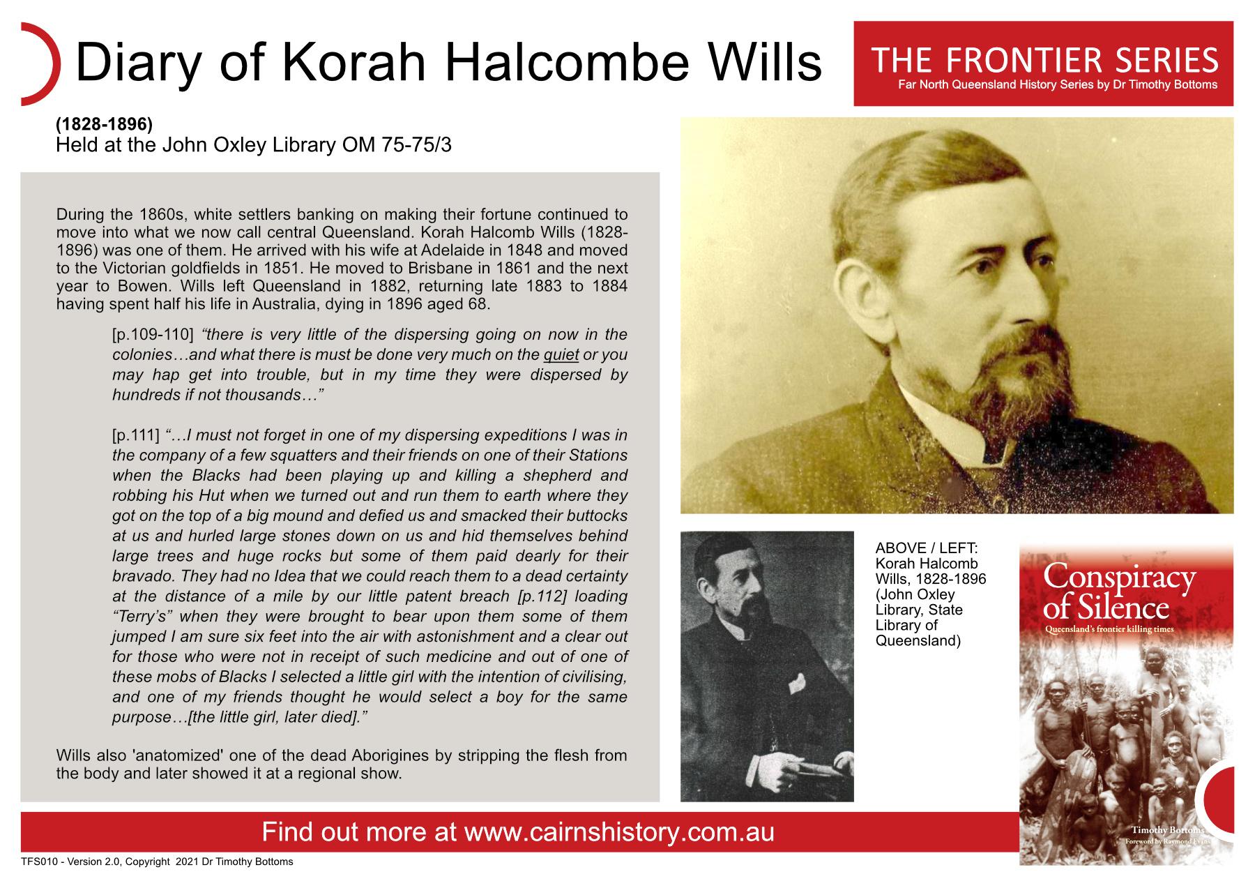 The Frontier Series Diary of Korah Halcombe Wills
