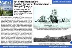 Cairns-History-Series-1848-HMS-Rattlesnake-Coastal-Survey-at-Double-Island-Wangal-Djungay